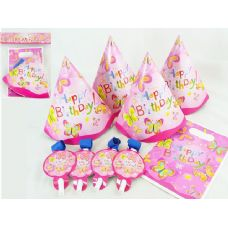 PARTY SET 12PC BUTTERFLY DESIG