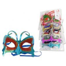 MASK WITH GLITTEROPP+UPC. RED PK PUR GOL SIL BL