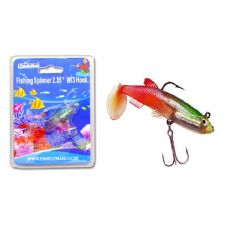 FISHING W/3HOOK 3ASST CLR RED+YELLOW,RED+BLACK,RED CLR