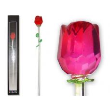 CRYSTAL ROSE 40CM W/29CM STERNRED COLOR ONLY