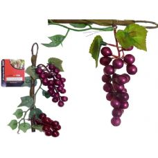 GRAPES ON STEM 2PC DECORATION