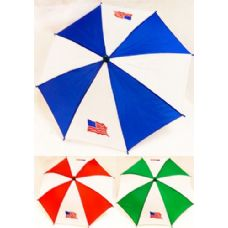 Umbrella Hats With American Flag Assorted Colors