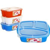 3 Section Food Storage With Lids