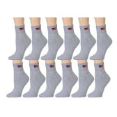 Yacht & Smith Women's Usa American Flag Low Cut Ankle Socks, Size 9-11 Gray