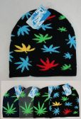 Knitted Winter Beanie [MARIJUANA Print