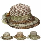 WOMANS ASSORTED SYLISH SUMMER HAT IN ASSORTED COLOR