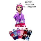 Kids Printed Winter Set, Scarf And Hat