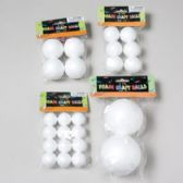 4asst Size Craft Foam Balls In Polybag W/header Craft Pbh