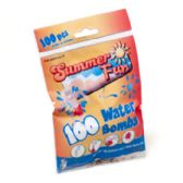 100pc Water Balloon Bombs W/1 Filler In 48pc Pdq Gov Logo Printed Pb