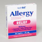 Allergy Relief 24 Caplets Diphenhydramine Boxed Compare To Benadryl