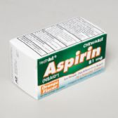 Aspirin 36 Ct Chewable Tablets Orange Boxed Compare To Bayer
