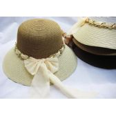 Ladies Summer Hat Assorted Colors With Bow