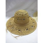 Ladies Woven Summer Hat in Natural Colors