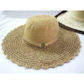Ladies Woven Summer Hat Assorted Natural Colors