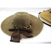 Ladies Summer Hat Assorted Colors With Chain Link Design