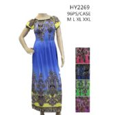 Ladies Long Summer Sun Dresses Assorted Colors