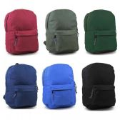 "17"" Sturdy 600D Backpack In 6 Assorted Colors."
