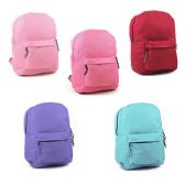 "17"" Sturdy 600D Backpack In 6 Assorted Colors"