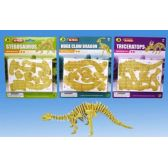 3D Dino puzzle in blister card 4 asst