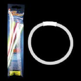 8 Inch Retail Packaged Glow Bracelets - White