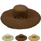 Women's Straw Summer Hat In Assorted Color