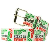 Adult Unisex Hecho in Mexico Printed Belt
