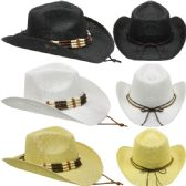 Assorted Cowboy Hat With Beaded Band