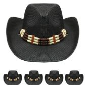 Black Cowboy Hat with Beading
