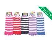Womens Fuzzy Fur Lined Cotton Socks Assorted Color