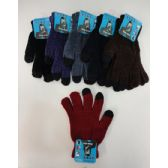Ladies Chenille Touch Screen Gloves