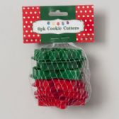 Cookie Cutters Christmas Plastic 6pk Approx 3in W/mesh Bag On Mdsg Strip Christmas Header