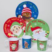 Cookies For Santa Melamine 3ast 8in Plate/10oz Mug 36pc Pdq Upc Christmas Label