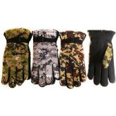 Winter Camo Ski Glove with Inside Lining and Anti-Slip Grip