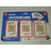 3 Pack Playing Card W/Blister Card