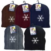 Winter Hat Snowflakes Assorted Colors
