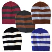 Winter Hat Stripe Assorted Colors