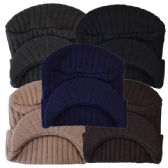 Winter Hat With Visor Assorted Colors