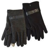 Winter Ladies Sensitive Touch Gloves with Buckle