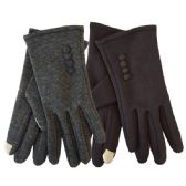 Winter Ladies Sensitive Touch Gloves with Buttons