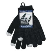 Winter Black Dotted Texting Glove