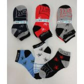 Boys Printed Anklet Socks 6-8 [Spider & Web]