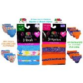 FRUIT OF THE LOOM 3 PACK MIX STYLES GIRLS PANTIES