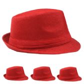 Red Fedora Hat Adult Size