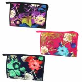 LARGE COSMETIC BAG IN A LAMINATE MATERIAL IN ASSORTED PRINTS AND COLORS
