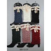 Knitted Boot Topper Lace Top with buttons