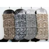 Multi-color Cable Knitted Boot toppers Leg warmers Ast
