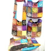 Peace Sign Nepal Hobo Bags Assorted Style Bulk