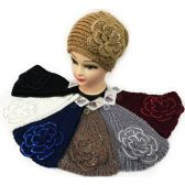 Sequins Large Flower Headband Ear bands Assorted *12 pcs of Sequins large flower headband *extra thick *assorted colors
