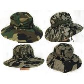 Camo Fishing Hat with Mesh assorted colors
