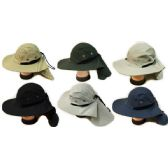 Summer Hunting Fishing Hat with Neck Cover Assorted